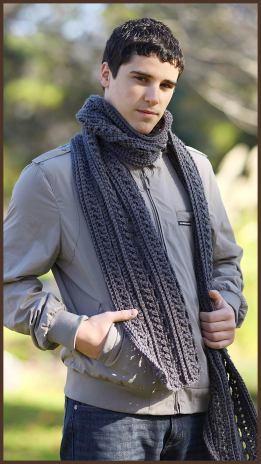 the gentlemans scarf allfreecrochetcom