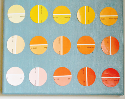 DIY Paint Chip Art Wall Decor