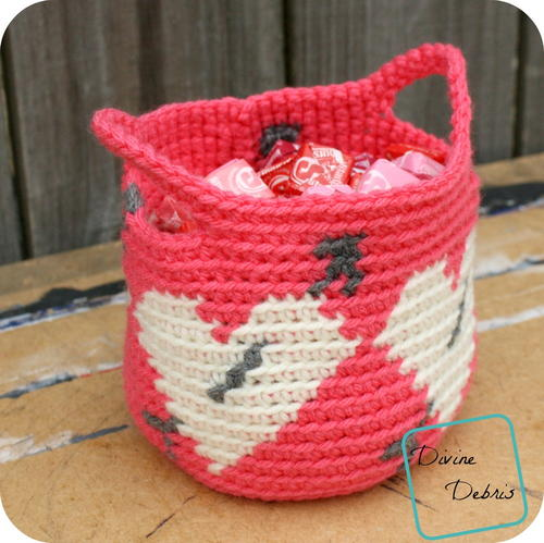 Valentine's Day Heart Basket