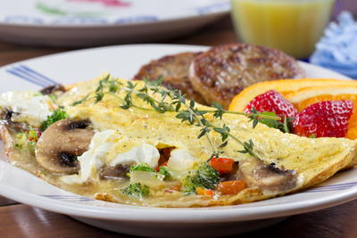 Veggie Cream Cheese Omelet