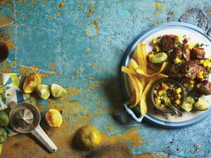 Crispy Pork with Mango Salsa