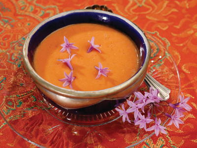 Salmorejo Cold Tomato Soup with Garlic Two Ways