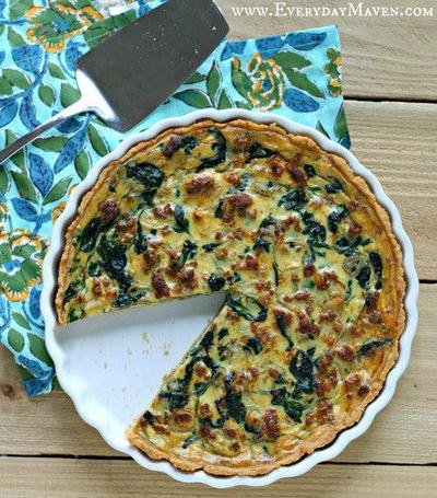Paleo Sausage and Spinach Quiche