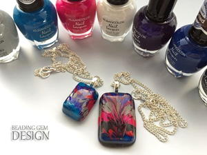 Resin Art Nail Polish DIY Pendant Tutorial
