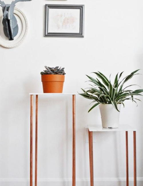 Copper Chic DIY Plant Stand