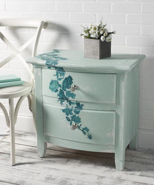 Sweet Roses Mod Podge Dresser