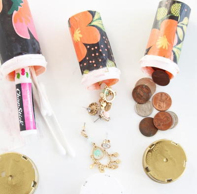 Darling Decoupaged Pill Bottle Craft Idea