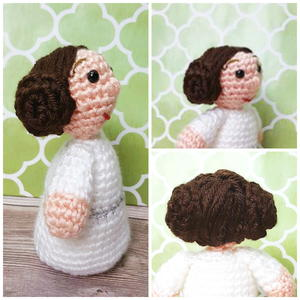 Princess Leia-Inspired Amigurumi