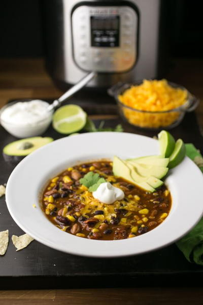 Slow Cooker Meatless Taco Soup