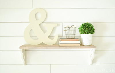 Thrifty Corbel DIY Farmhouse Shelf