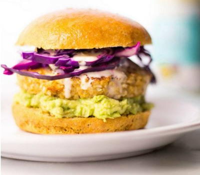Spicy Cauliflower Ranch Burger