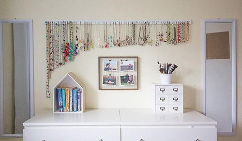The Easiest DIY Necklace Hanger