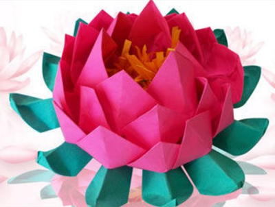 Unique And Easy Origami Lotus Allfreepapercraftscom