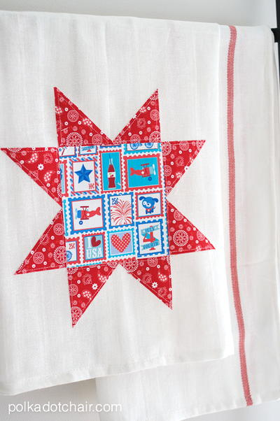 Stars and Stripes Dishtowel Tutorial