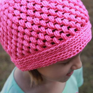 Perfectly Pink Puff Hat