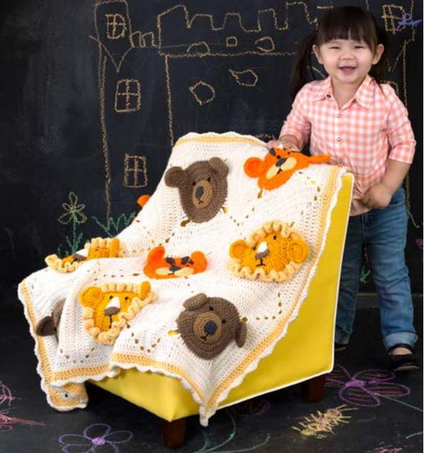 Lions and Tigers and Bears Baby Blanket