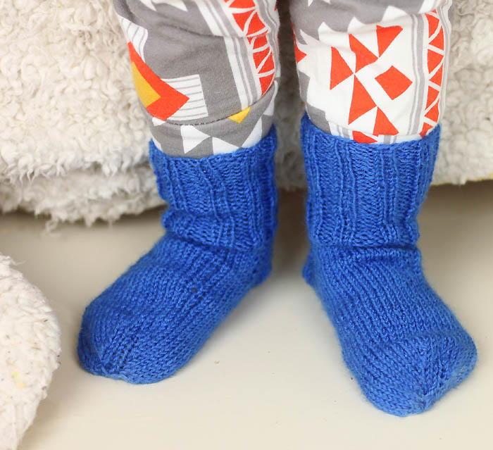 Ribbed Toddler Socks | AllFreeKnitting.com