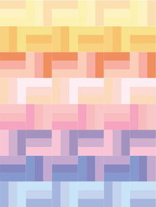 Spring Pastels Rail Fence Quilt Pattern