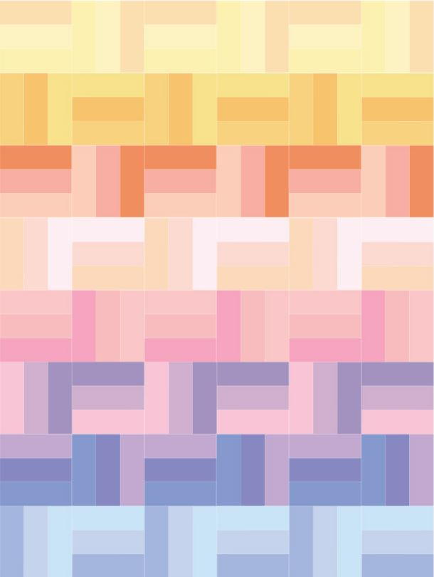 Spring pastels rail fence quilt pattern favequilts