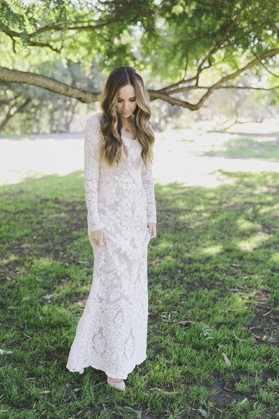 Anniversary Lace Maxi Dress
