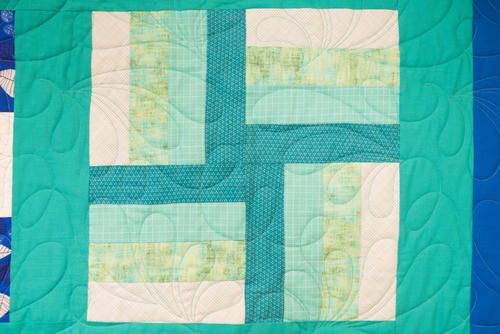Rail Fence Quilt Block Pattern