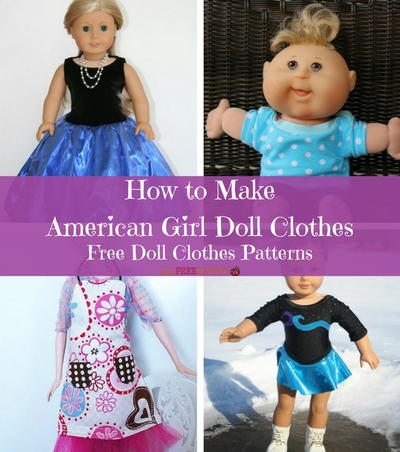 photo relating to Free Printable 18 Inch Doll Clothes Patterns known as How in direction of Deliver American Lady Doll Outfits: 16+ Free of charge Doll