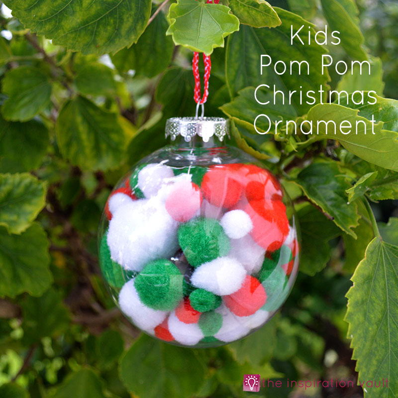 The Pom Pom Ornament Craft That Never Ends: Kids Pom Pom Christmas Ornament