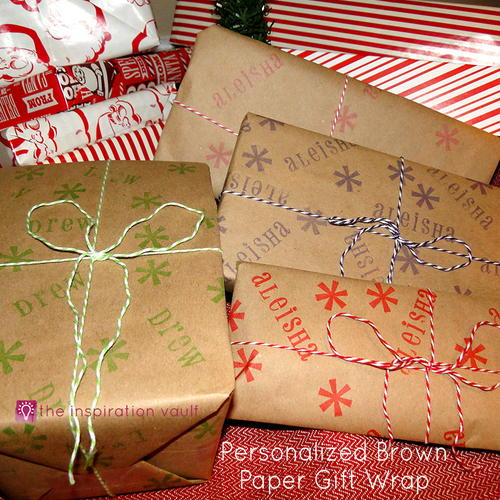 Personalized Brown Paper Gift Wrap