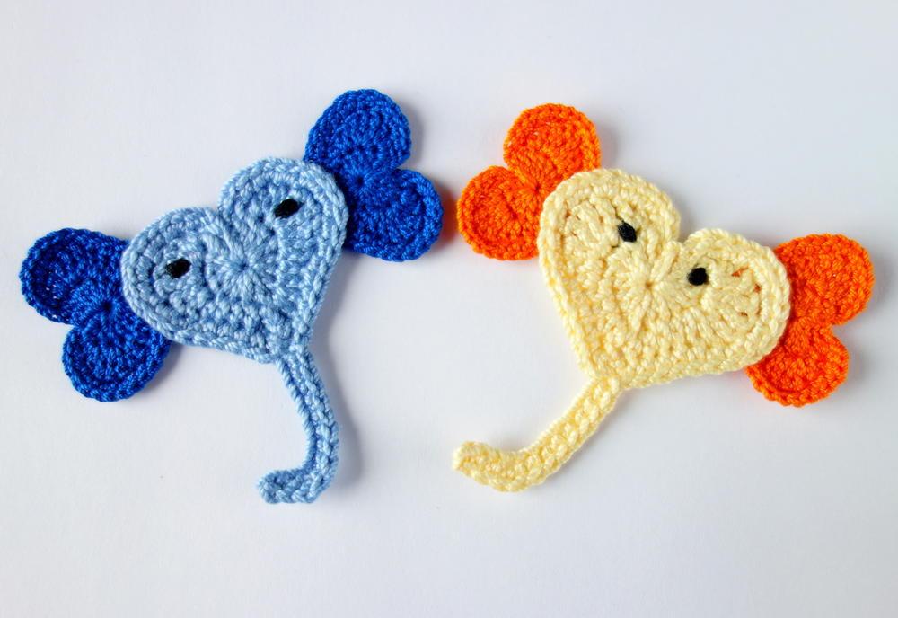 Crochet Elephant Applique Allfreecrochet Com