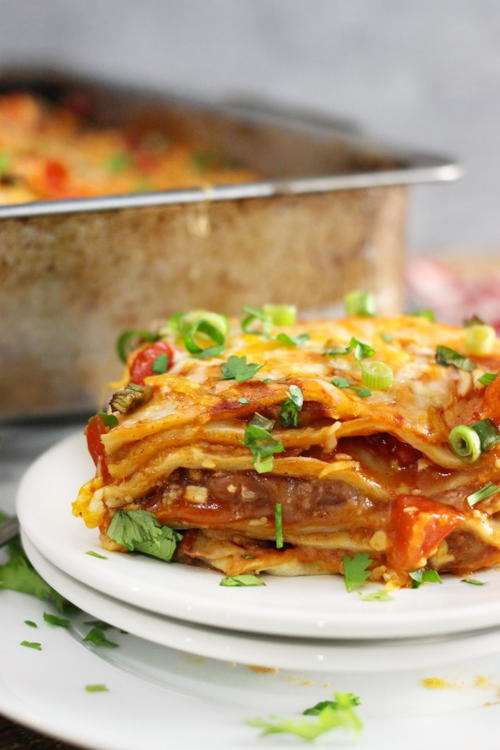 Deep Dish Mexican Pizza Bake