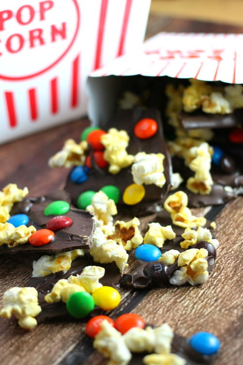 Sweet & Salty Movie Theater Popcorn Chocolate Bark