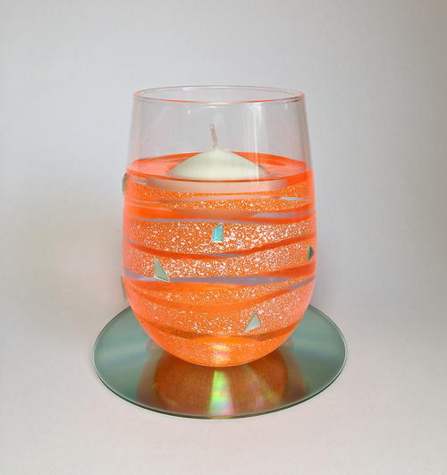 Tangerine Floating Candle Holder