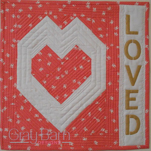 Loved Mini Quilt Pattern