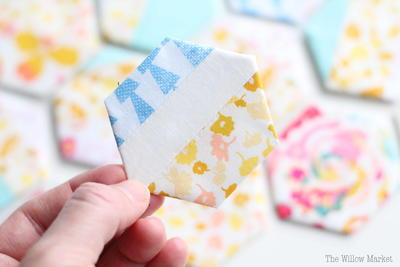 Scrappy Hexagon Blocks Tutorial