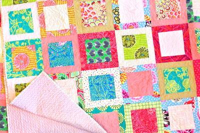 Square Block Lap Quilt