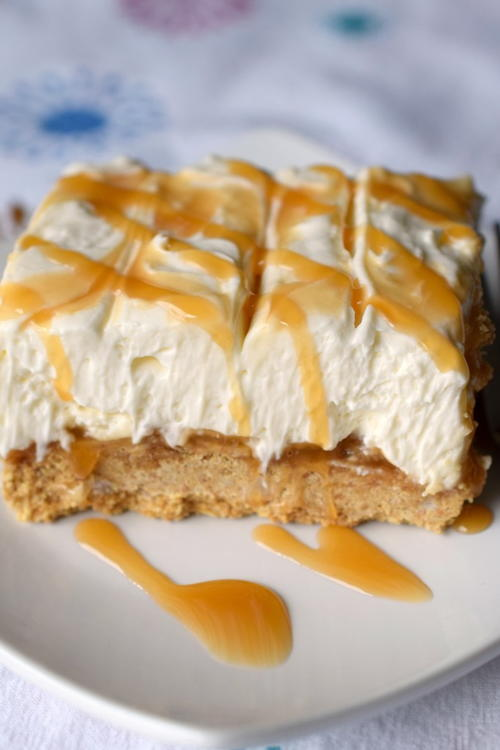 No-Bake Caramel Cheesecake Bars