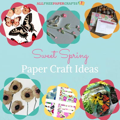 26 Sweet Spring Paper Craft Ideas