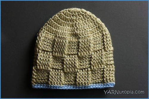 Adorable Basket Weave Baby Hat