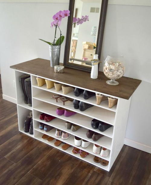 Affordable DIY Shoe Organizer