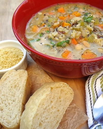 One Pot Veggie and Wild Rice Soup