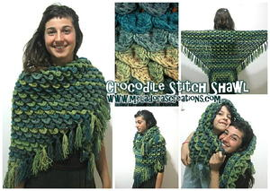 Fashion Forward Crocodile Stitch Shawl
