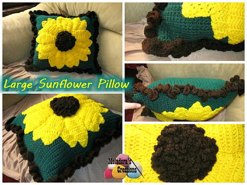 Bright As Can Be Sunflower Pillow