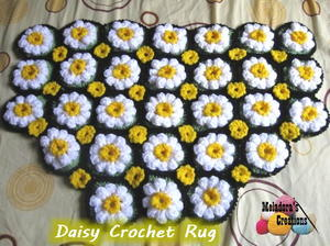 Field Of Daisies Crochet Rug