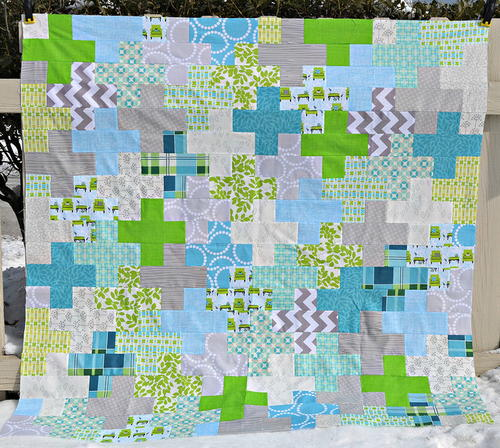 Plus One Baby Quilt Tutorial