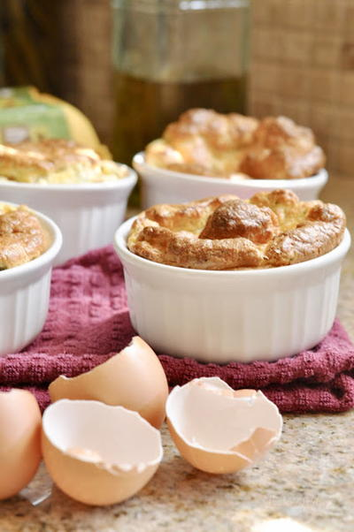 Three Cheese Broccoli Souffle | AllFreeCasseroleRecipes.com