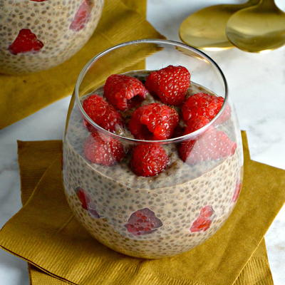 Chocolate Chia Pudding for Two