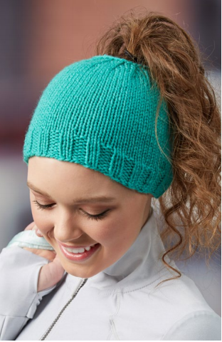 Trendy Knit Bun Hat