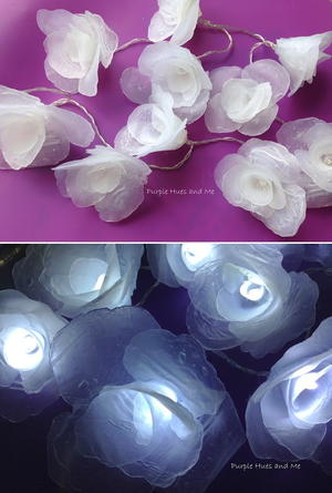 Prettiest Ever Hot Glue Flower Lights