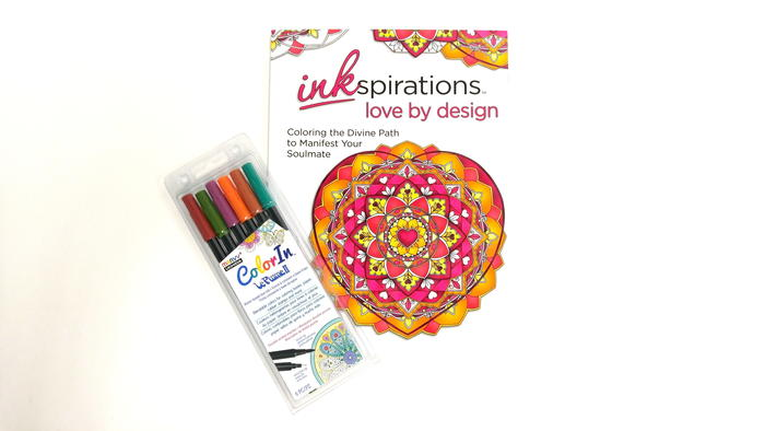 Love By Design Adult Coloring Book and Pens Giveaway