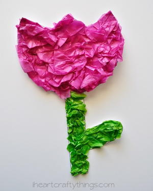 Printable Springtime Tulip Flower Craft